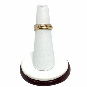 Cartier 18k tri-color Trinity Rolling Ring sz 5.5